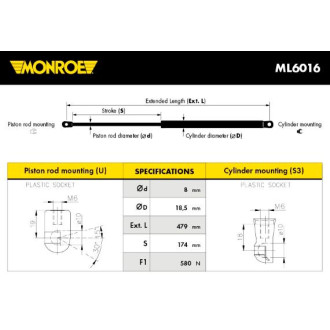 MONROE ML6016